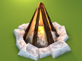 Game Asset: Bonfire