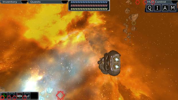 Inside a warm Nebula Cloud