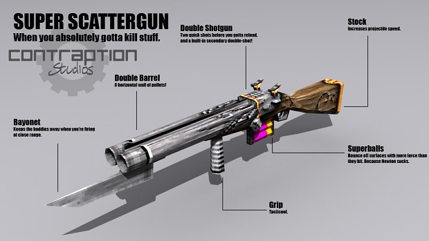 Scattergun Promotional Renders