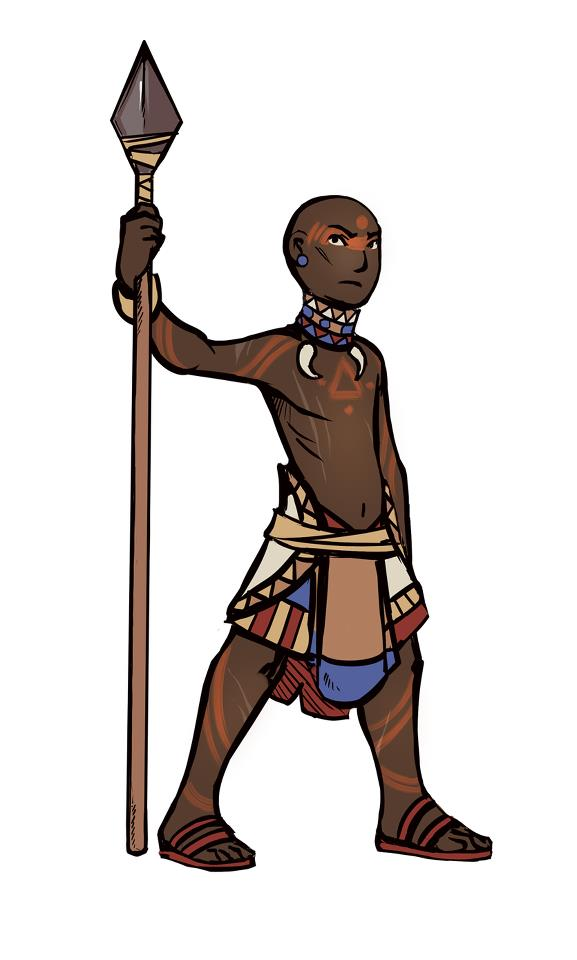 Rhamka Tribal Warrior, New Concept Art Style