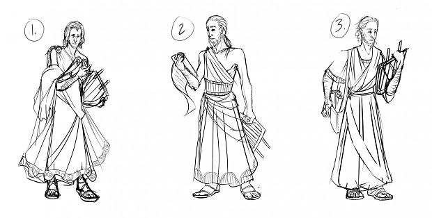 Bard, Concept Sketches