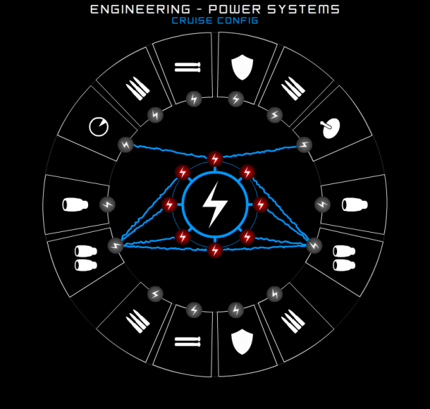 Engineering Station - Power Management Wireframe