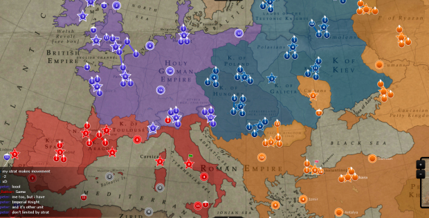 atWar screen shot: Europe in 1334