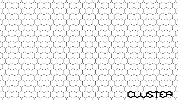 clean hexagonal grid image - cluster