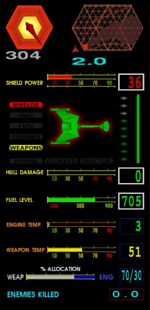 Klingon - current ship HUD