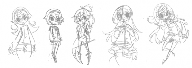 Early Concept Scribbles