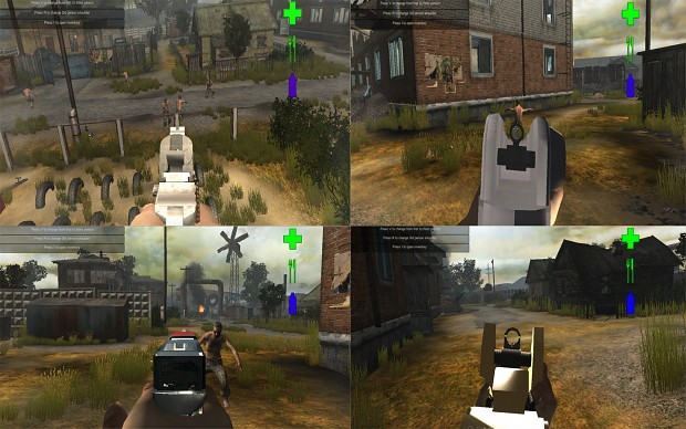 New environment assets and Aim down sights!