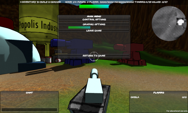 First version of the ingame menu