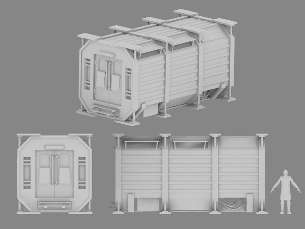 Container home work-in-progress