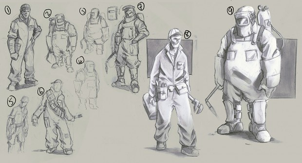 Engineer concept roughs