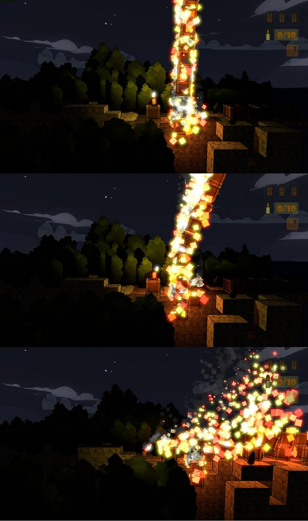 Candlelight - Burning Crate with Physics