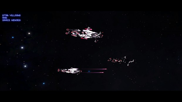 Three AIAD cruisers firing railguns