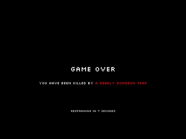 Pixel loot Raiders - Pre Alpha 0.34gameover screen