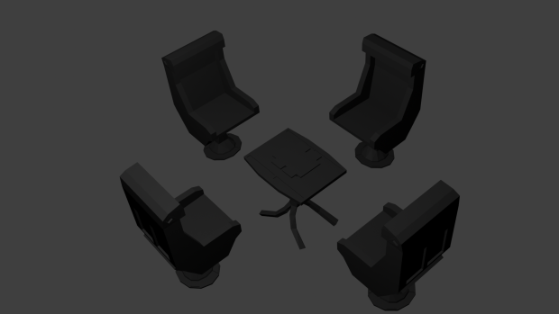 Chairs and Tables Renders