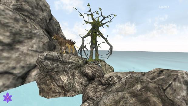 Screenshots from the alpha