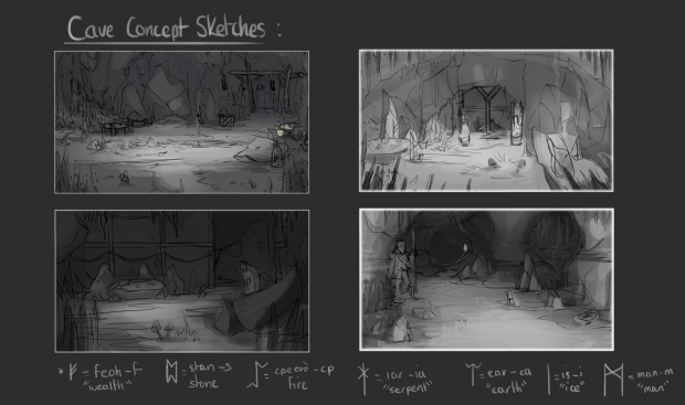 Early Cave Environment Concepts