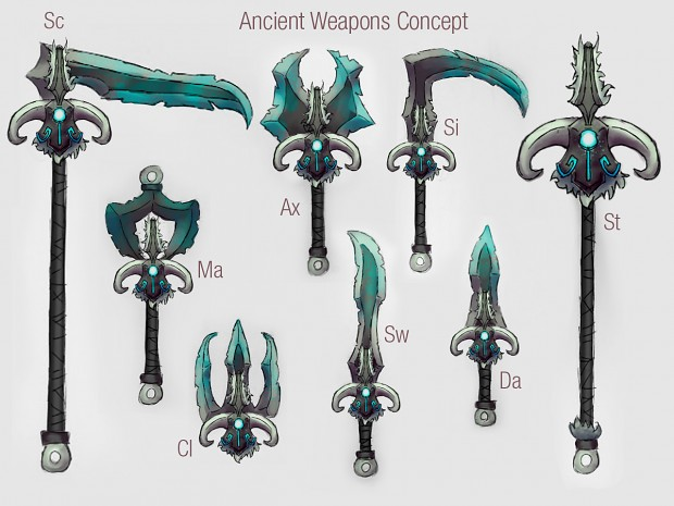 Ancient Weapon Set Concept