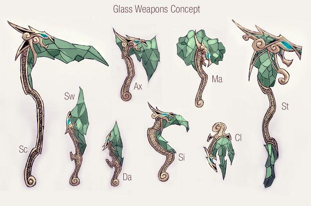 Glass Weapon Set Concept