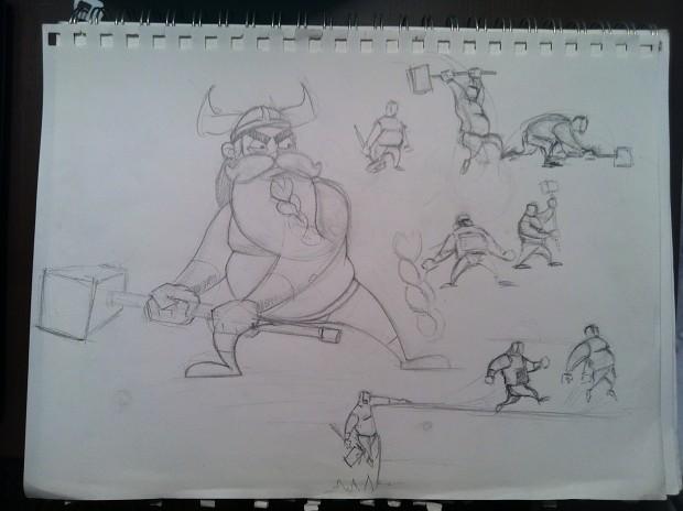Variety of Rorik animation snapshots