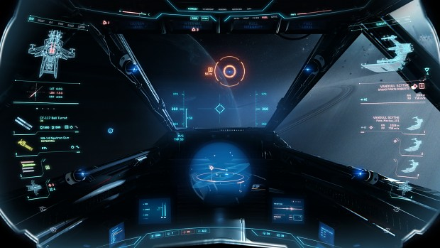 Hornet cockpit HUD mock up