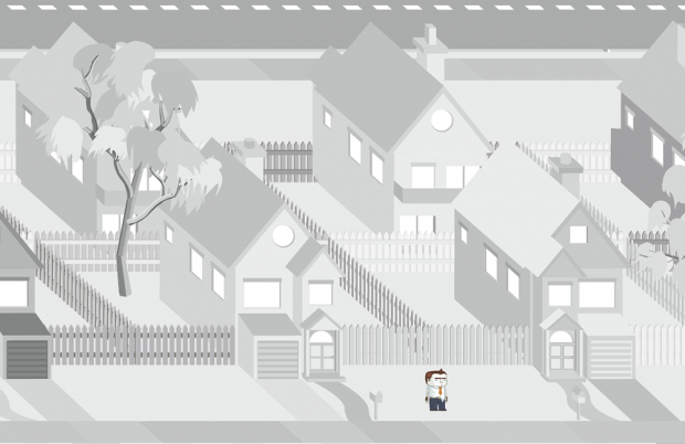 Large pan greyscale rendering of 1st level