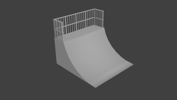 A skate ramp