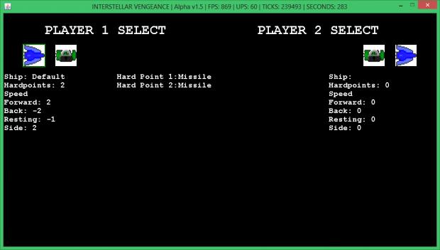 The Ship Select Screen