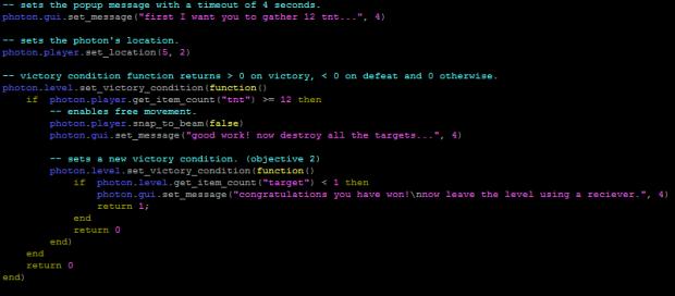 Preview of the Lua API