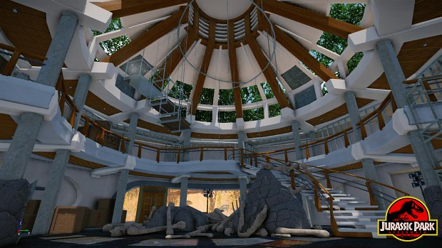 How cool are these gyrosphere beds in this Jurassic Park ...  |Jurassic Park Interior Design