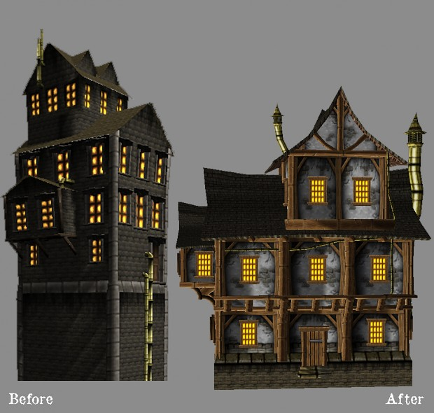 Models demonstration: before and after the rework
