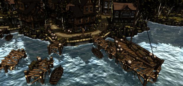 Light and shade: Wardenclyffe harbor