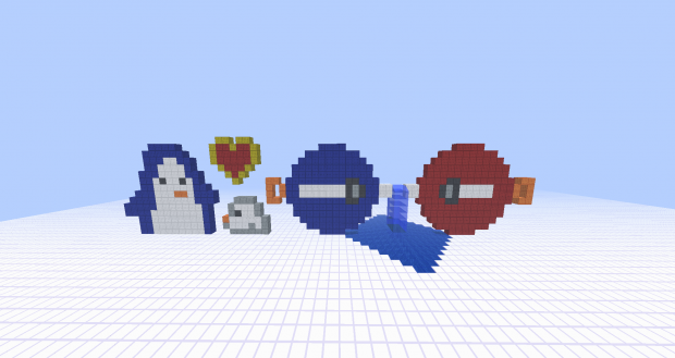 Pixel art characters made in minecraft world image waddle waddle