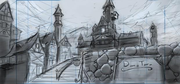 RTX Demo Town Concept