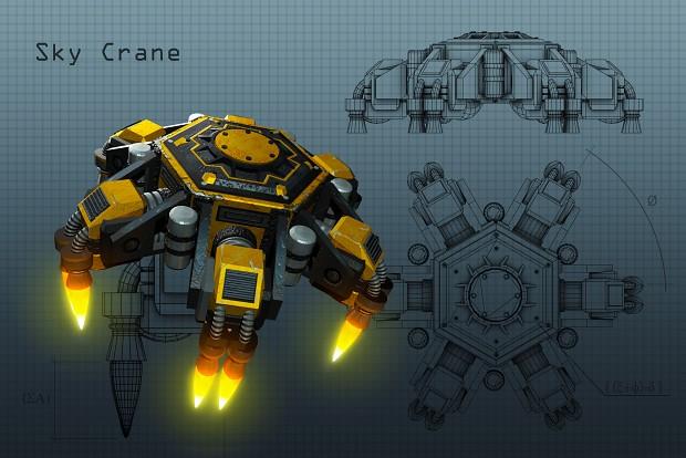 Sky Crane 3D Concept