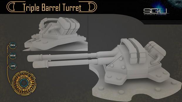 Triple Barrel Turret