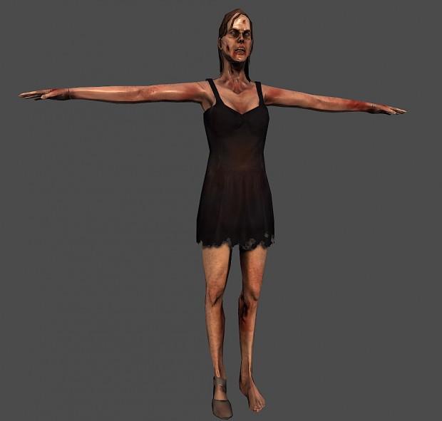 WIP - Female zombie