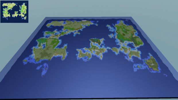 Latest Terrain Generation - Aerial View