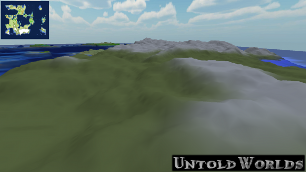 Latest Terrain Generation - Snowy Hills