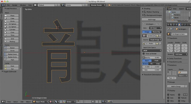 Drawing chinese letters