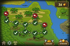 Level map for defense game Lumberwhack