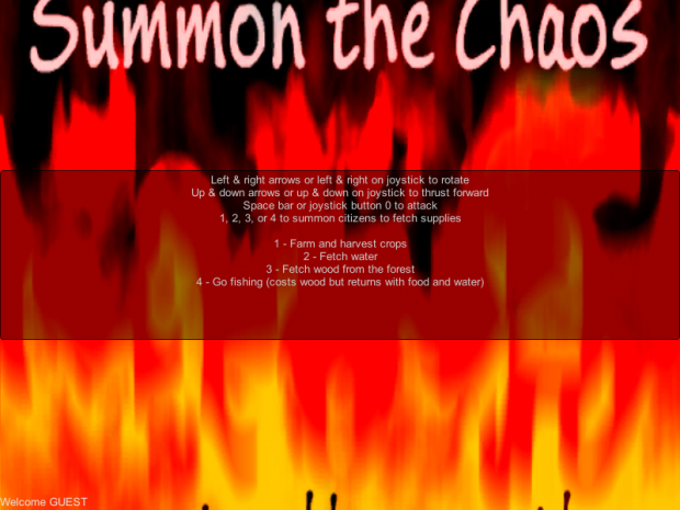 Summon the Chaos instructions