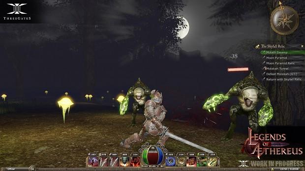 Legends of Aethereus - Swamp Battle
