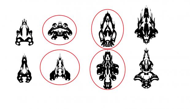 Alien warship concept art