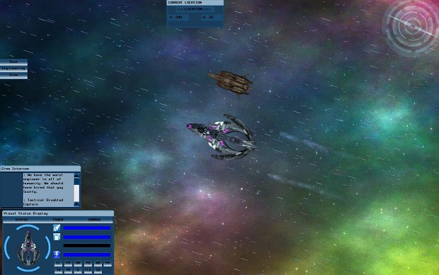 Escorting a civilian ship