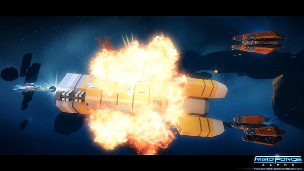 Rigid Force Alpha - Large Explosion!