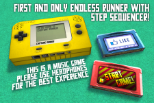 Chiptune Runner - Main menu concept