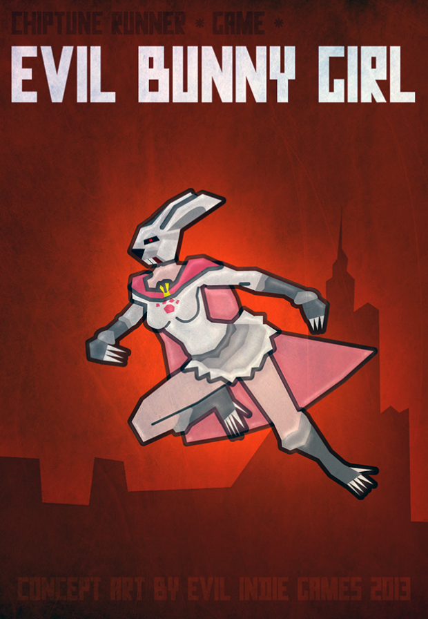 Evil Bunny Girl - Chiptune Runner game Boss