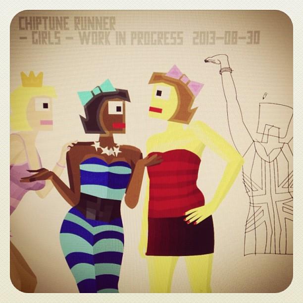 Chiptune Runner Girls - WIP