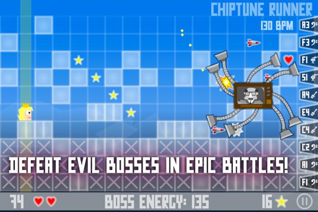 Chiptune Runner - Boss fight!