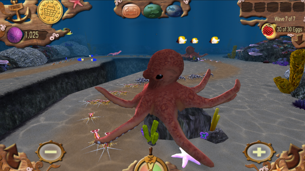 Fish vs crabs octopus image indie db for Crab fishing game